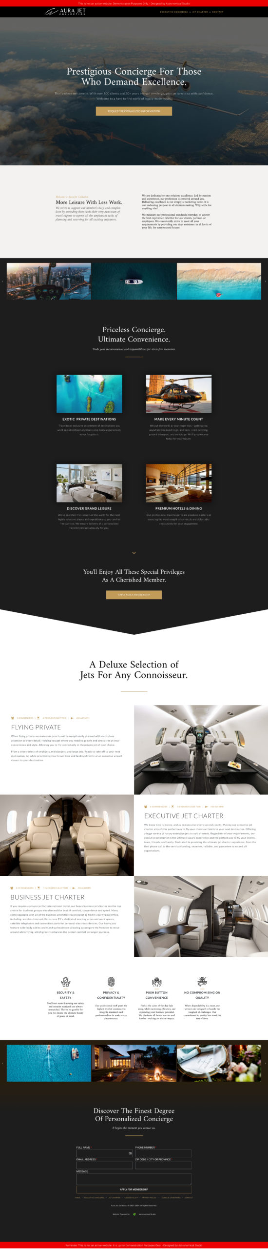 Aura-Jet-Collection-Website-Design-By-Astronomical-Studio