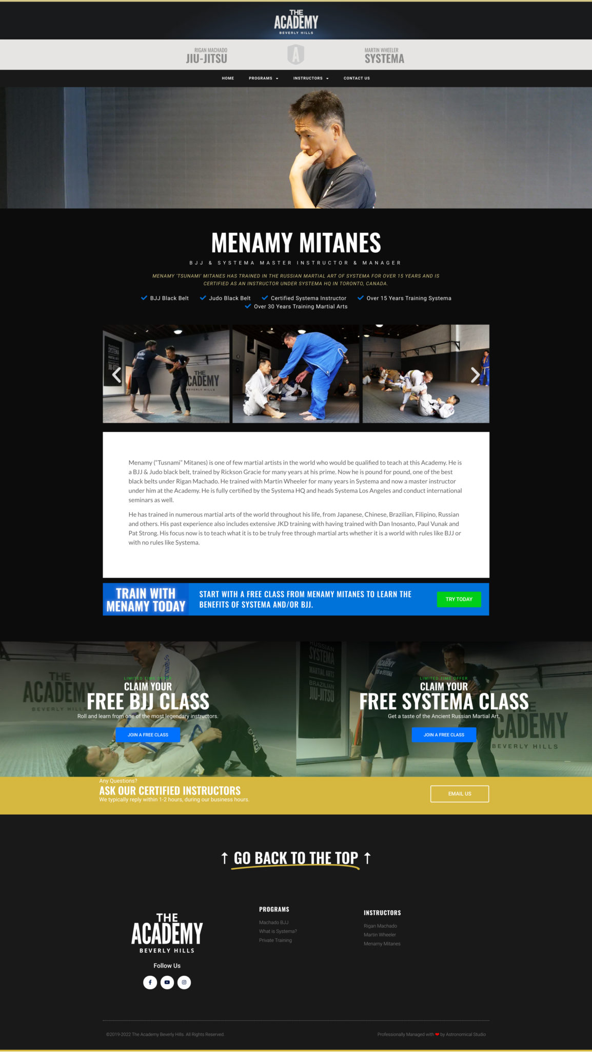 The-Academy-Beverly-Hills-Instructors-Website-Design-By-Astronomical-Studio